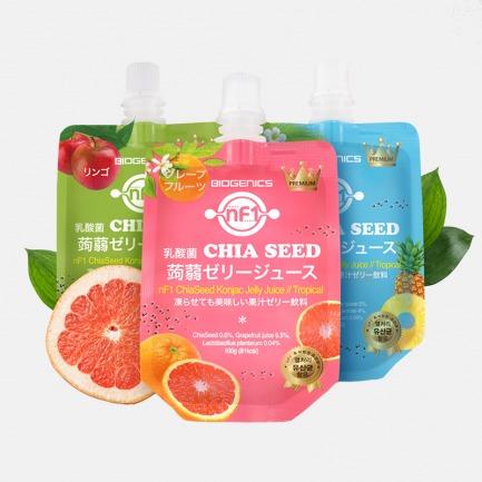 奇亚籽蒟蒻果冻乳酸菌饮料 | 好喝不胖的零食 三款口味
