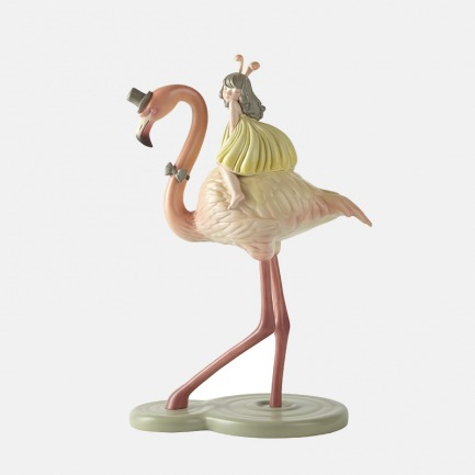 火烈鸟 手工艺术摆件 | 超治愈的白夜童话系列雕塑