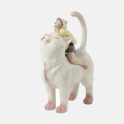 猫将军 手工艺术摆件 | 超治愈的白夜童话系列雕塑