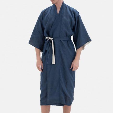 KIMONO高定真丝男睡袍 | 舒适亲肤的真丝+超细苎麻