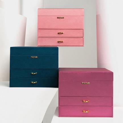 优雅大容量三层首饰盒 | 外观设计优雅 共三款颜色