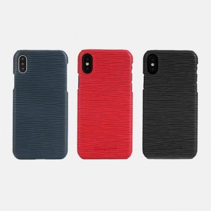 波浪纹牛皮iPhone手机壳 | 真皮舒适手感 防滑又耐磨