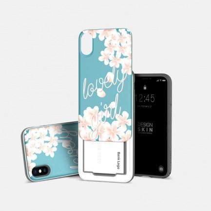 iPhoneX滑盖手机壳 花朵款 | 轻松滑盖 收纳隐藏小物