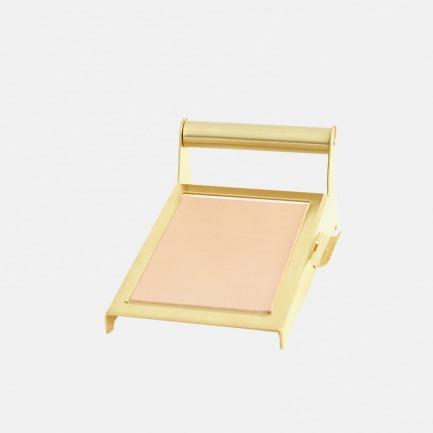 黄铜便签台 | 植鞣革皮垫、附带笔槽