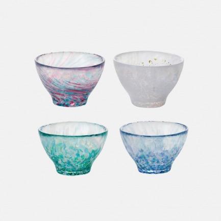 日本进口八仙花系列玻璃杯 | 纯手工制作 每只不尽相同