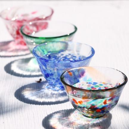 日本进口彩色流系列玻璃杯 | 纯手工制作 每只各不相同