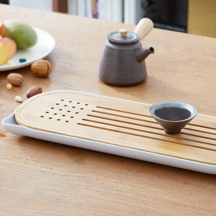 创意设计小茶盘 抚琴茶盘   古朴优雅造型 宛如听琴饮茶
