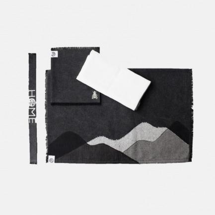 禅意一人茶席-黑色 | 餐席+餐巾+杯垫套装