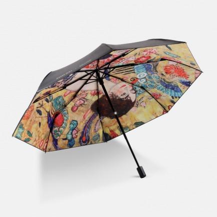 三折黑胶伞 Lady with Fan | 复刻古典画像 克林姆特联名