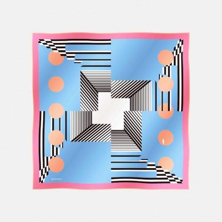 别具一格的几何设计方巾      大方巾 | 100%斜纹真丝 打破沉闷