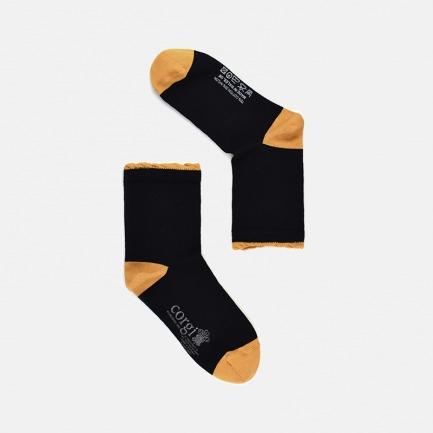 时尚经典女士简约短款棉袜 | 手工缝制 柔软亲肤