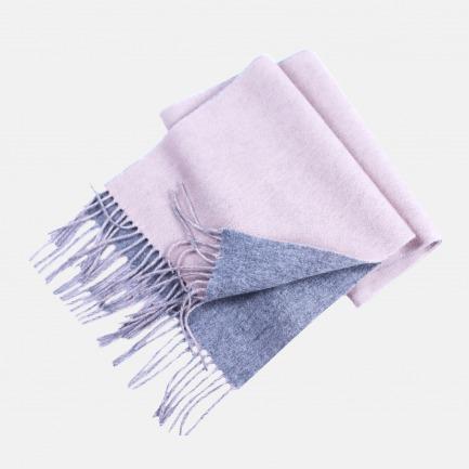 优雅的双面混纺羊绒围巾  | 超显白的配色 柔软舒适