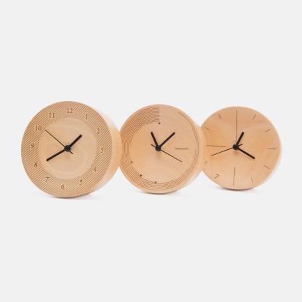 榉木桌面静音小摆钟 | 天然材质还原简单生活