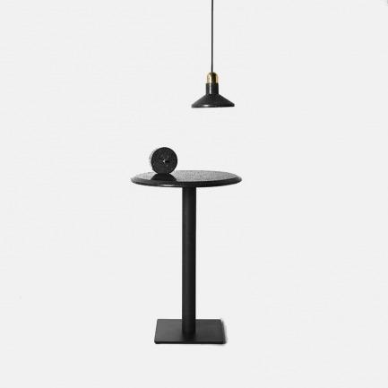 原创艺术极简黑洞石圆桌 | 现代工业风 气质冷酷