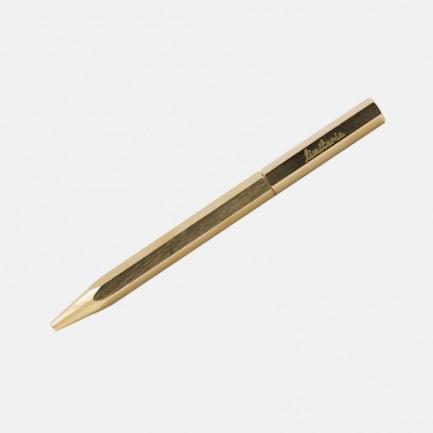 复古黄铜签字笔 别有质感 | 经典六角笔身 旋转式出笔