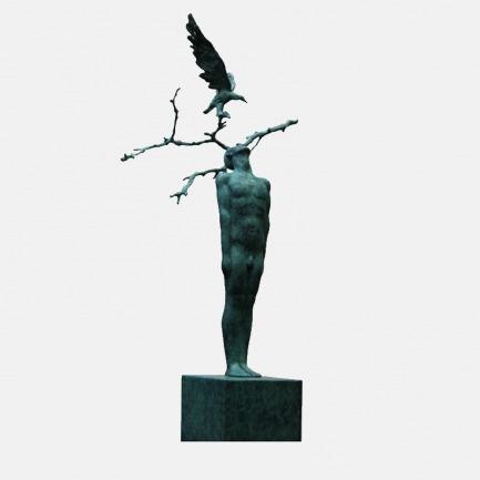 绿衣-青年雕塑家杨洋作品 | 法国总统Macron的收藏作