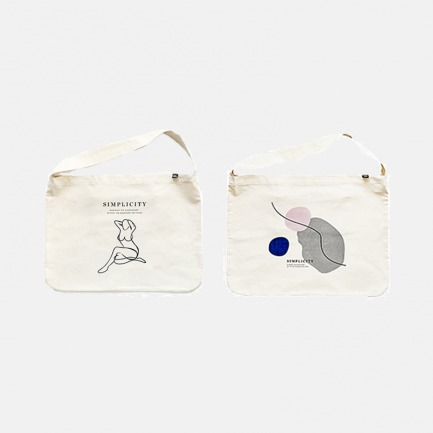 原创设计色块 人脸帆布袋 | 文艺女生必备单品 简约时尚