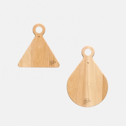 原创设计实木几何形砧板 | 独特造型趣味十足 设计感强
