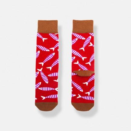 FISH时尚潮流男士中筒袜 | 行走在人群中的亮点