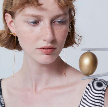 厨房派对 红绿豆筷子耳环  | 让耳饰唤醒你的美 银镀18k