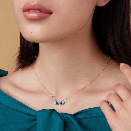 蜻蜓珐琅系列项链 | 将美好吉祥的寓意戴在颈上