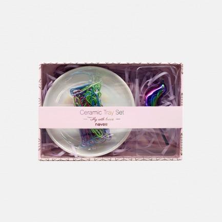 飞鸟系列-陶瓷托盘套装 | 颜值超高的办公文具组合