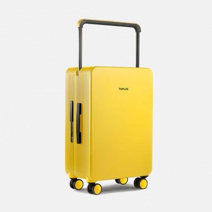 极简风旅行箱 平衡系列釉黄   轮廓别致有型 创新宽杆设计