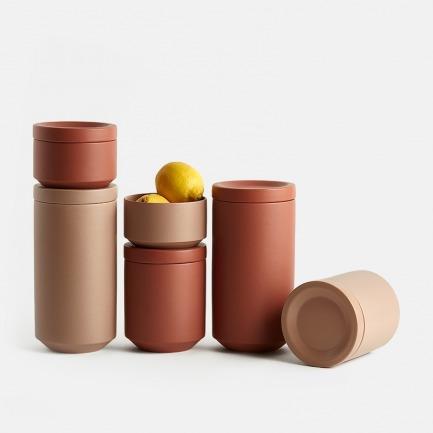 大地系列陶瓷储物罐 | 简洁收纳,丝绒质感