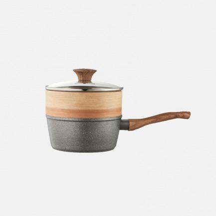 麦饭石奶锅 | 小巧不粘锅 煎炒煮蒸多功能
