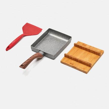 麦饭石玉子烧  | 小巧不粘锅 耐腐蚀烙饼专用