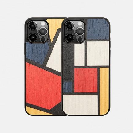 撞色艺术木质手机壳   意大利手工制作,原创小众