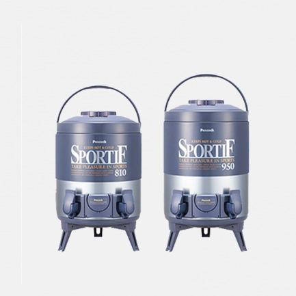 双龙头不锈钢茶饮保温桶 | 三层工艺长效保温保冷