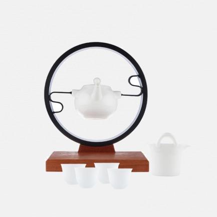 月光宝盒半自动茶具套装 | 羊脂玉瓷 品茶亦可赏器