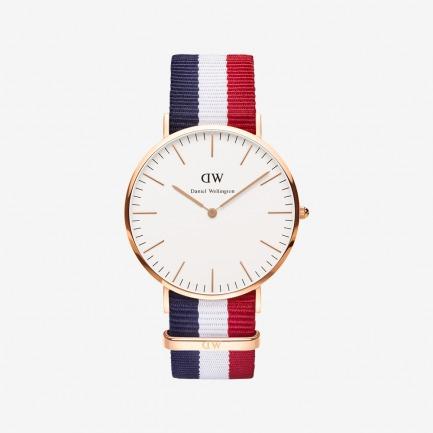 Cambridge 玫瑰金尼龙带腕表 | 北欧简约风 中性经典款