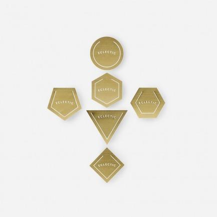 几何形书页夹 | 金属利落线条的几何美学
