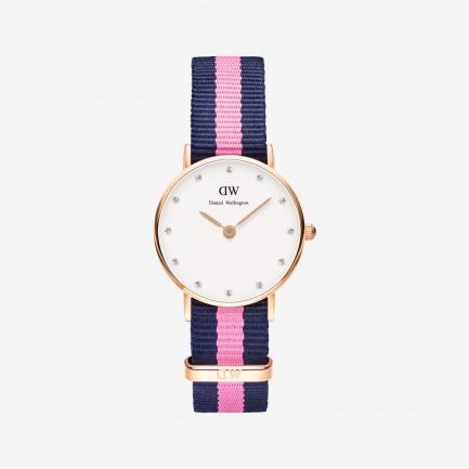 Winchester 玫瑰金尼龙带腕表(女款)