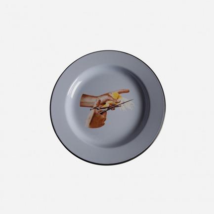 Toiletpaper餐盘-鸟图案  | 意大利家居设计品牌Seletti