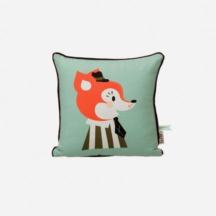 狐狸图案儿童抱枕 | 100%有机棉(带内芯)