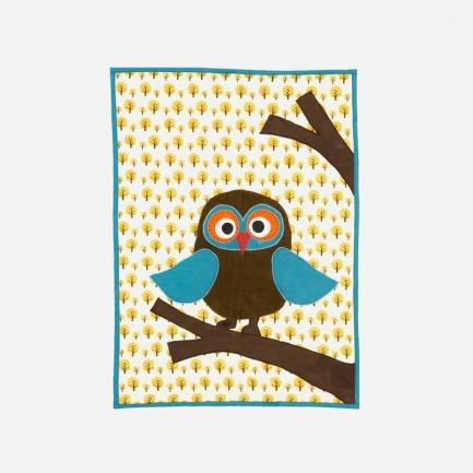 猫头鹰图案儿童毯 | 图案生动逗趣 面料柔软舒适