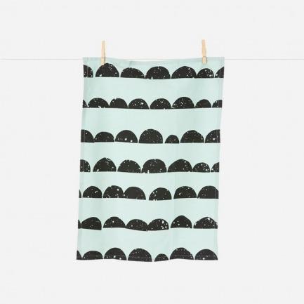 半圆几何花纹茶巾