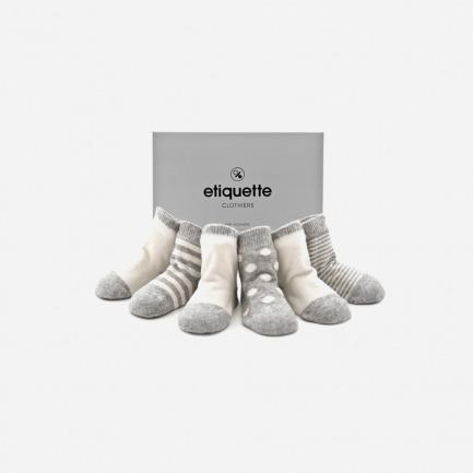 山羊绒婴儿棉袜套装(六双装)