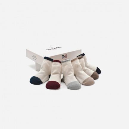 学院风婴儿棉袜套装(六双装)