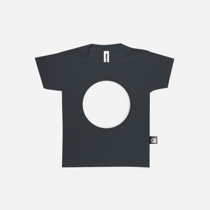 儿童态度T恤之创意贴布圆黑色