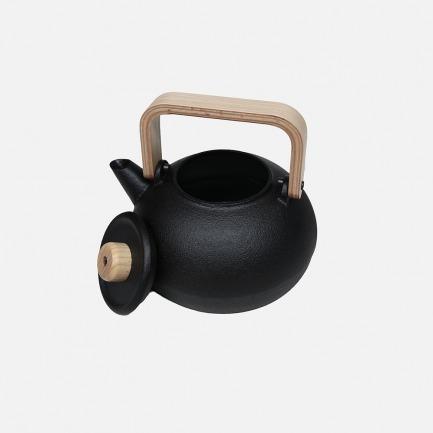 铁茶壶 木质手柄