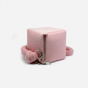 时尚立方体手包 轻巧可爱   精致手作 羊毛奢华质感