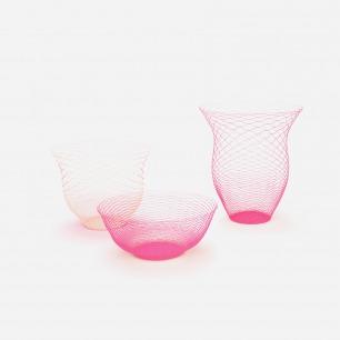 空气花瓶(3个装) 粉色 米色