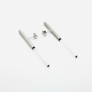 [ 空房间]系列 光纤耳钉【银色】