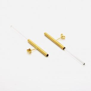 [ 空房间 ]系列 光纤耳钉【金色】