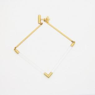 [ 空房间 ]系列 菱形漂浮耳坠(金单只)