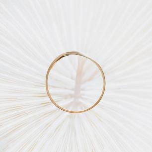 「隐」-莫比乌斯18K金戒指(宽版男士)【15个自然日内发货】